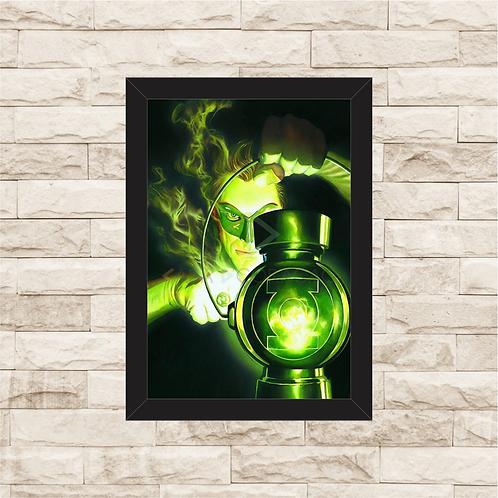1073 - Quadro com moldura Lanterna Verde
