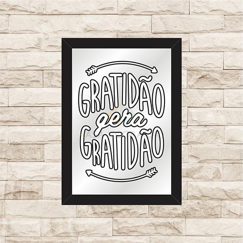 6416 - Quadro com espelho Gratidão gera Gratidão