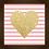 Thumbnail: 6050 - Quadro com moldura Coração Dourado