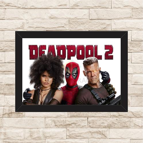 1198 - Quadro com moldura Deadpool 2