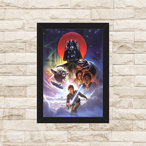 1013 - Quadro com moldura Star Wars