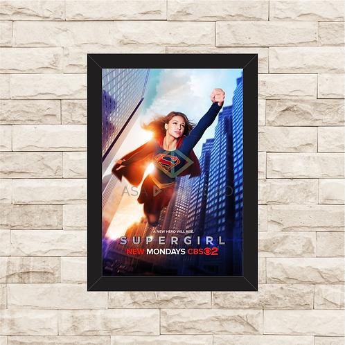 1464 - Quadro com moldura Supergirl