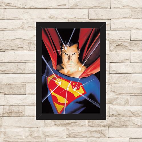 1110 - Quadro com moldura Superman