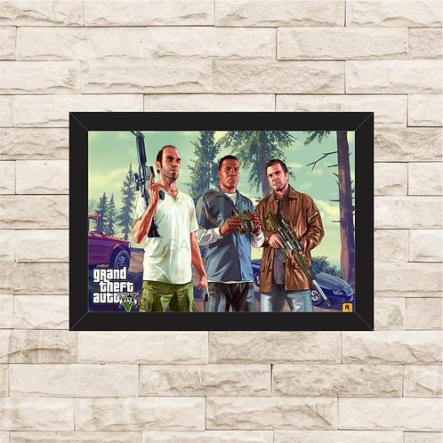 1028 - Quadro com moldura Grand Theft Auto - GTA