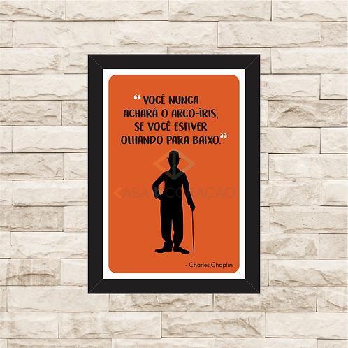 6112 - Quadro com moldura Charles Chaplin