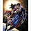 Thumbnail: 1290 - Quadro com moldura Superman e Mulher Maravilha
