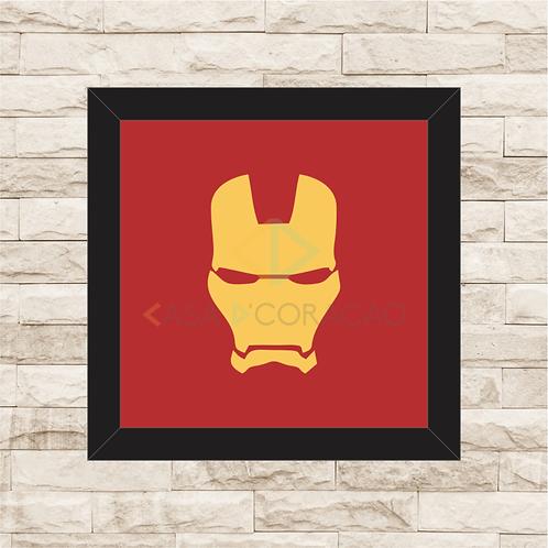 1233 - Quadro com moldura Homem de Ferro Logo