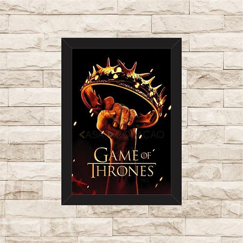 1147 - Quadro com moldura Game of Thrones
