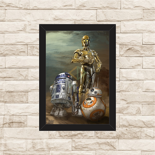 1115 - Quadro com moldura Star Wars