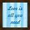 Thumbnail: 4037 C - Quadro com moldura Love is All You Need - Azul