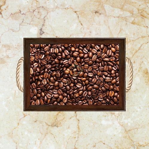 10001 - Bandeja Decorativa - Grãos de Café