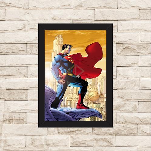 1118 - Quadro com moldura Superman