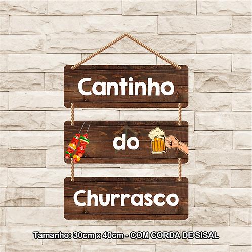 30089 - Placa Decorativa - Cantinho do Churrasco