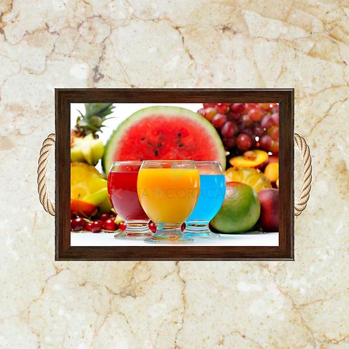10036 - Bandeja Decorativa - Frutas e Sucos