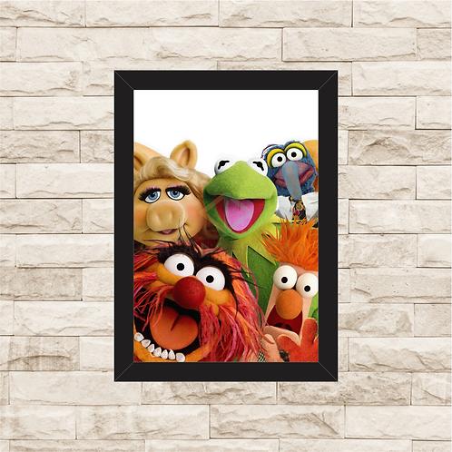 1588 - Quadro com moldura Os Muppets