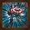 Thumbnail: 1225 - Quadro com moldura Capitão América