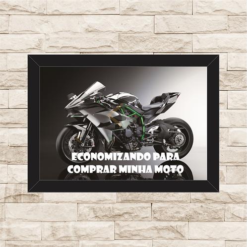 075 - Quadro para guardar dinheiro - Para Comprar Minha Moto