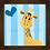 Thumbnail: 4037 A - Quadro com moldura Girafinha - Azul