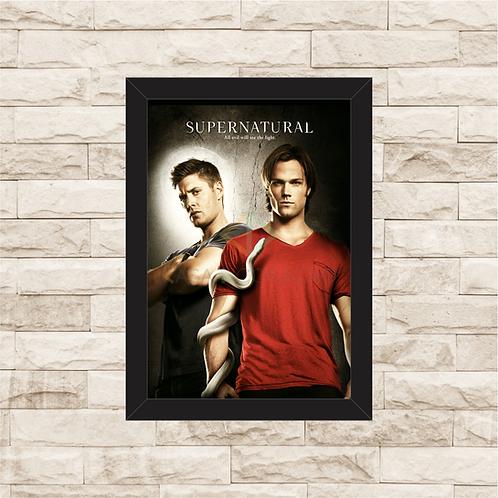 1322 - Quadro com moldura Supernatural - Sam e Dean