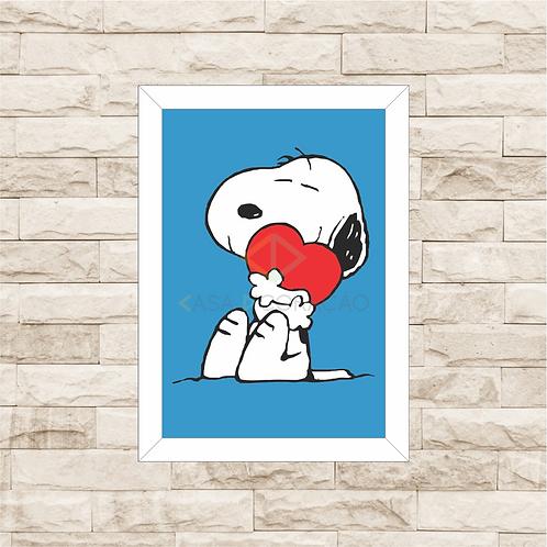 4165 - Quadro com moldura Snoopy