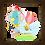 Thumbnail: 4131 - Quadro com moldura Voando de Balão