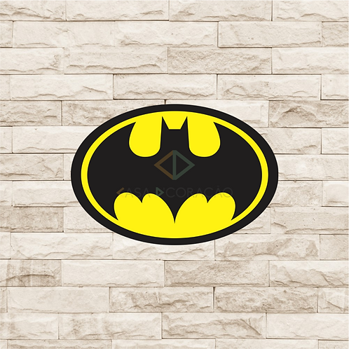 30021 - Placa Decorativa - Escudo Batman