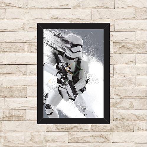 1416 - Quadro com moldura Star Wars - Stormtrooper