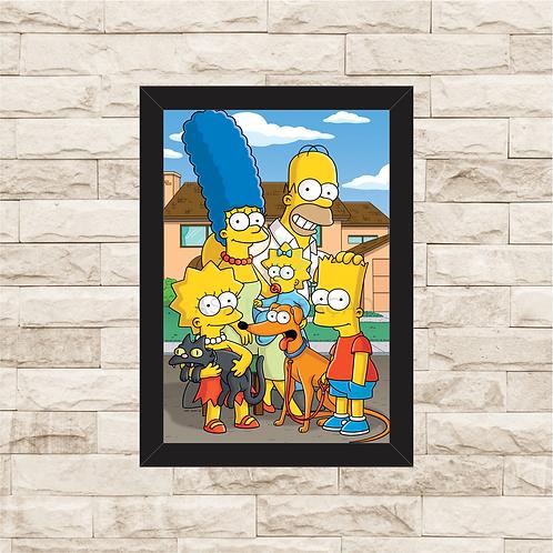 1085 - Quadro com moldura The Simpsons