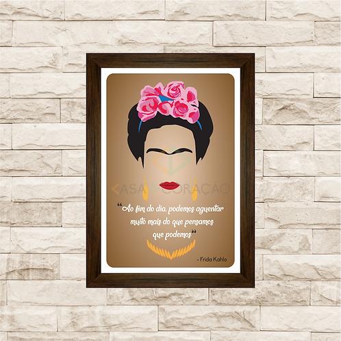 6110 - Quadro com moldura Frida Kahlo