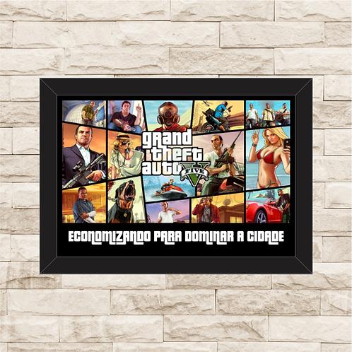 003 - Quadro para guardar dinheiro - Para o Próximo Game - Grand Theft Auto