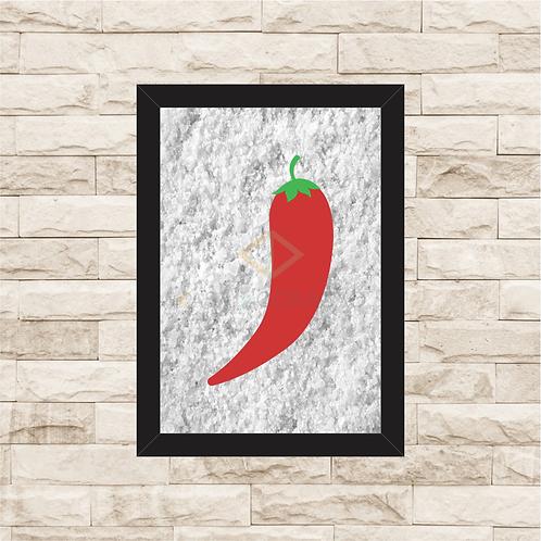 6150 - Quadro com sal grosso - Pimenta