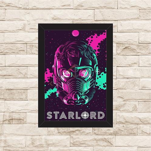 1106 - Quadro com moldura Guardiões da Galáxia - Starlord