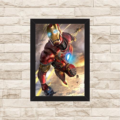 1055 - Quadro com moldura Homem de Ferro