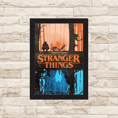 1050 - Quadro com moldura Stranger Things