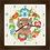 Thumbnail: 9036 - Relógio com moldura Gatinho e Flores