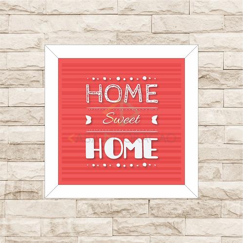 6001 - Quadro com moldura Home Sweet Home