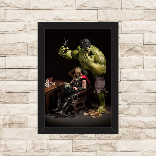 1782 - Quadro com moldura Barber Hulk