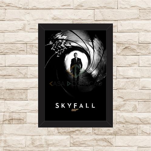1438 - Quadro com moldura 007 - Skyfall