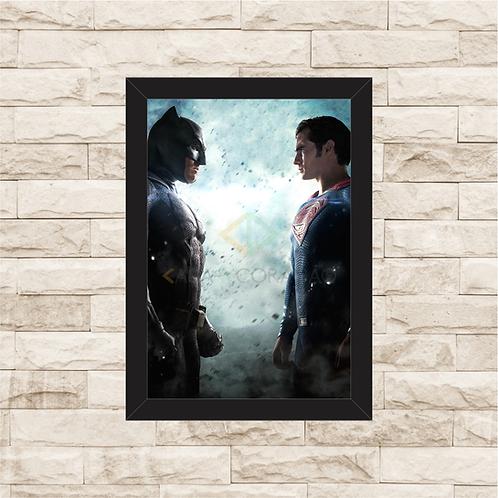 1405 - Quadro com moldura Batman vs Superman
