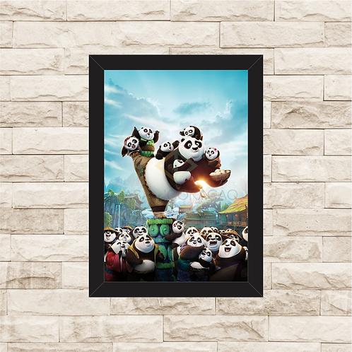 1679 - Quadro com moldura Kung Fu Panda 3