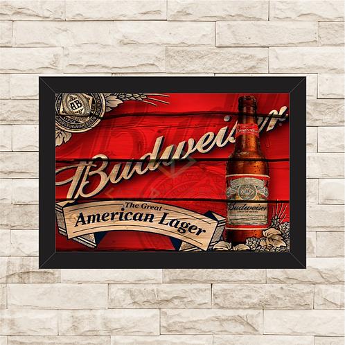 7013 - Quadro com moldura Budweiser