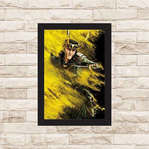 1791 - Quadro com moldura Loki