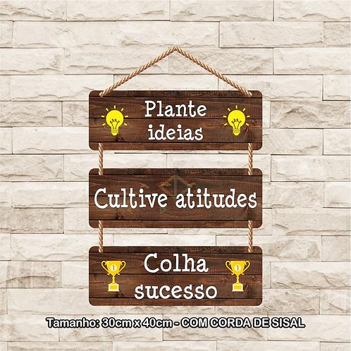 30099 - Placa Decorativa - Plante Ideias
