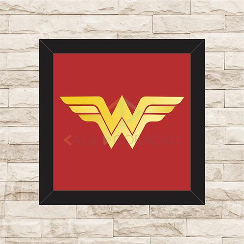 1230 - Quadro com moldura Mulher Maravilha Logo