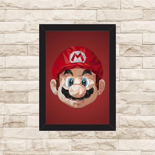 1058 - Quadro com moldura Super Mario