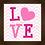 Thumbnail: 4027 - Quadro Decorativo LOVE - Rosa