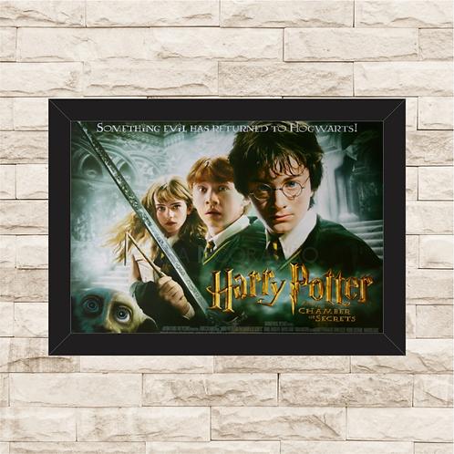 1314 - Quadro com moldura Harry Potter e a Câmara Secreta