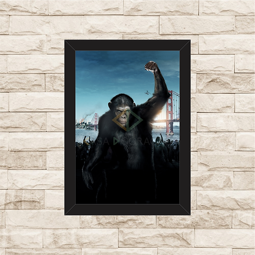 1597 - Quadro com moldura Planeta dos Macacos - A Origem