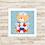 Thumbnail: 4105 - Quadro com moldura Ursinho Marinheiro