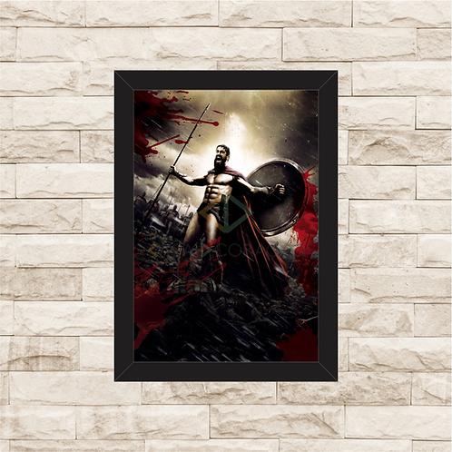 1471 - Quadro com moldura Os 300 de Esparta - Rei Leônidas